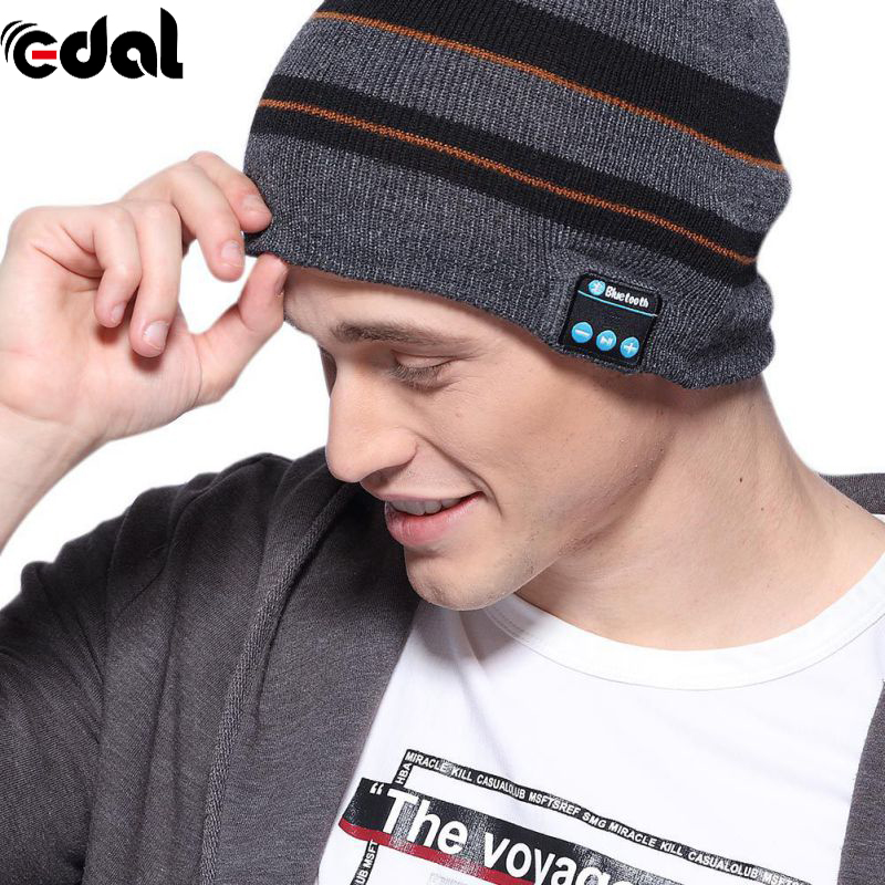 20-20KHZ Fashion USB Smart Bluetooth 4.1 Wireless Music Cap Headphone Headset Speaker Magic 3.7V Hat wireless bluetooth music beanie cap stereo headset to answer the call of hat speaker mic knitted cap