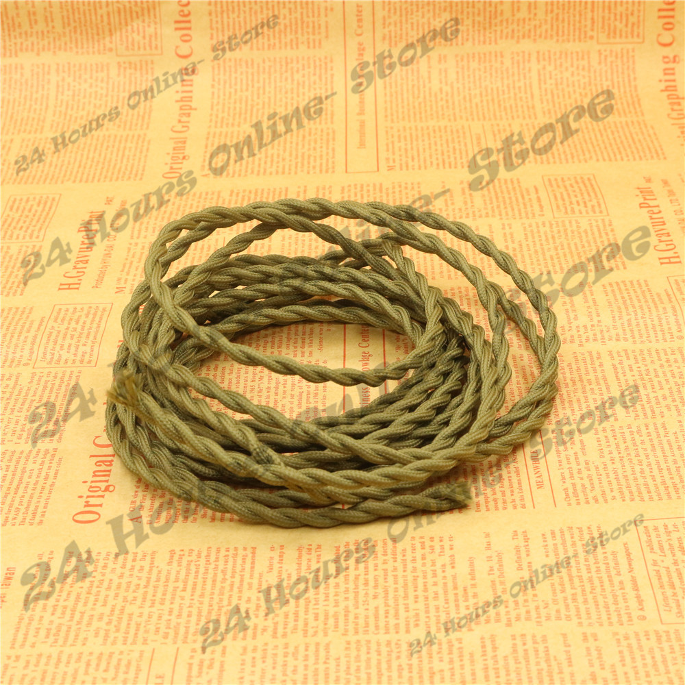 5m 2x075 8 Colors Braided Wire Fabric Cable Retro Wiring A Lamp Knot Electrical