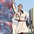Belos Conjuntos 2016 Moda Outono Manga Longa Bolsos Bege Turn-down Único Breasted Bordado Casaco + Conjuntos de Saia Elegante