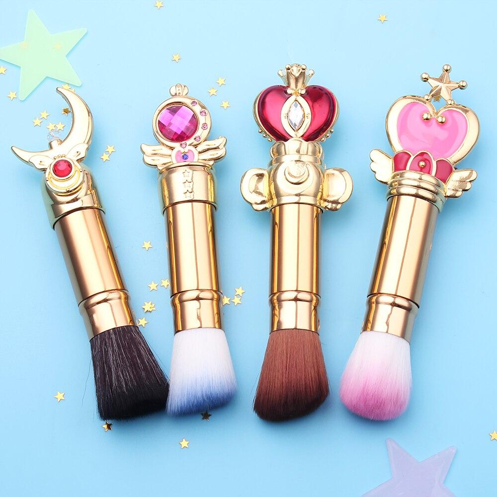 Free Shipping Sailor Moon Telescopic/Adjustable Magic Wand Brush Eyeshadow Makeup Brushes Set Contour Blending Cosmetic Brushs