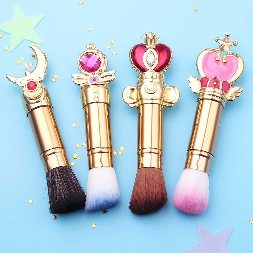 Gratis Pengiriman Sailor Moon Teleskopik/Adjustable Magic Wand Sikat Make Up Set Kuas Perona Mata Kontur Blending Kosmetik Sikat
