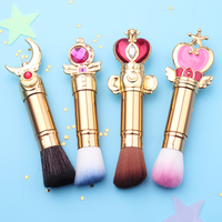 Free Shipping Sailor Moon Telescopic Adjustable Magic Wand Brush Eyeshadow Make Up Brushes Contour Blending Cosmetic