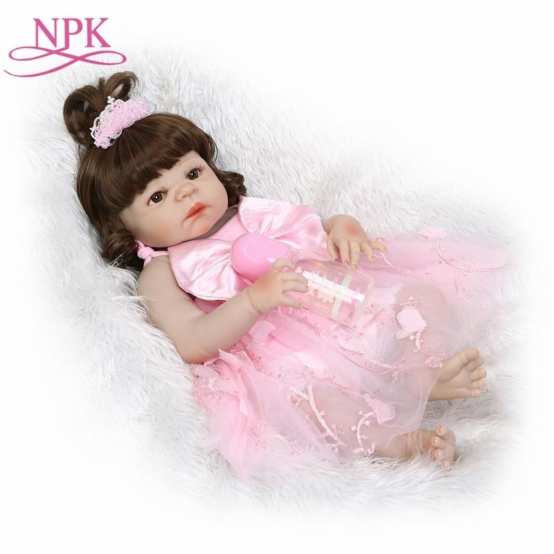 NPK Bonecas Reborn 22inch full Silicone Vinyl Reborn Baby Dolls 55cm Newborn Lifelike Bebes Reborn Doll