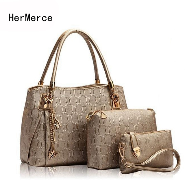 Hermerce Luxury Handbags Women Bags Designer Female Hobo Tote Set Top Handle Shoulder Bag Handbag