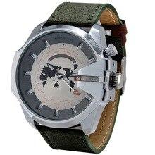 2016 новый дизайн Часы Лучший Бренд Класса Люкс Военно-Спортивный Наручные Часы кожа Наручные Часы с календарем relogio masculino для мужчин подарок