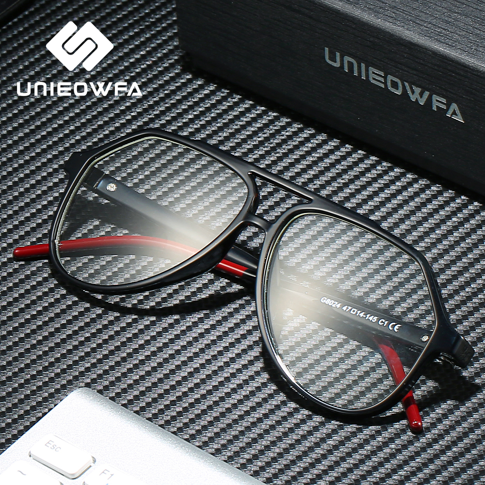 Image 3 - Clear Optical Glasses for Men Frame Transparent Myopia Degree Eyeglasses Frame TR90 Prescription Eyewear Frame Pilot Spectacles-in Men's Eyewear Frames from Apparel Accessories