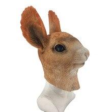 Latex rubber Rabbit Mask Overhead Bunny Animal Costume Halloween Masquerade Party  Fancy Dress