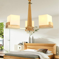 2018 Cottage Style Wooden Chandeliers Home Lighting lampadario indoor Light Art deco chandeliers For Living Room Free shipping