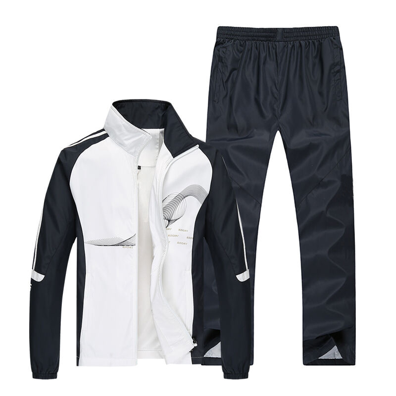 2019 Spring Running Sets Men Sport Suits Sportswear Set Polyester Fitness Training Gym Cycling Tracksuit Zip Pocket Jogging Suit2019 Spring Running Sets Men Sport Suits Sportswear Set Polyester Fitness Training Gym Cycling Tracksuit Zip Pocket Jogging Suit