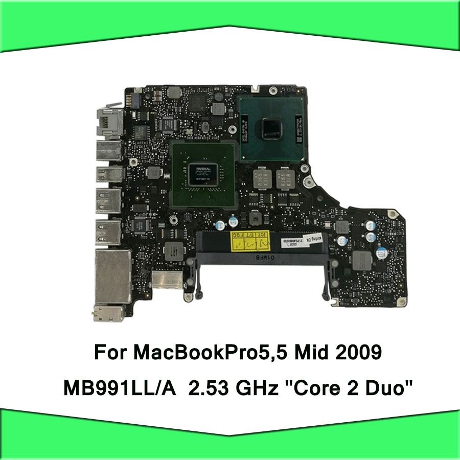 2.53GHz P8700 Logic Board For Macbook Pro 13 A1278 Motherboard MB991LL/A Mid 2009 820 2530 A