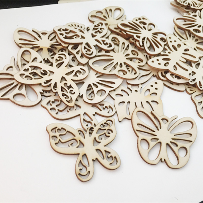 10pcs/ Wooden Butterfly/Butterfly Shape/ Different Size /home decoration/children gifts/DIY/Lovely/