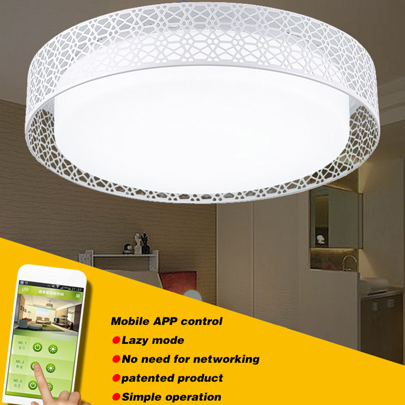 App Phone Control Surface Mounted Modern led ceiling lights for living room bedroom led light fixture luminaire, 220V 24W 36W