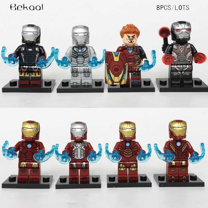 子供のおもちゃ驚異アベンジャーズアイアンマンコレクションアイアンマンハルクバスタートニー · スターク MK8 互換 legoe ビルディングブロック