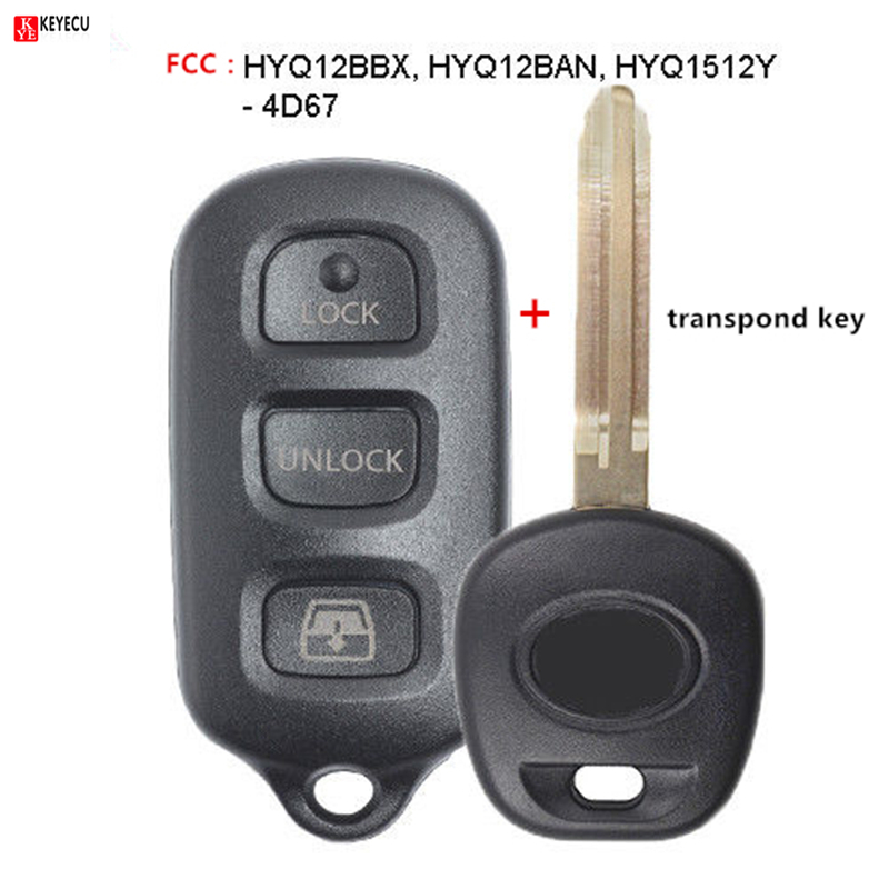 HYQ1512Y;by AUTO KEY MAX HYQ12BBX New Replacement Keyless Entry Remote Key Fob for Toyota 4Runner Sequoia HYQ12BAN SINGLE