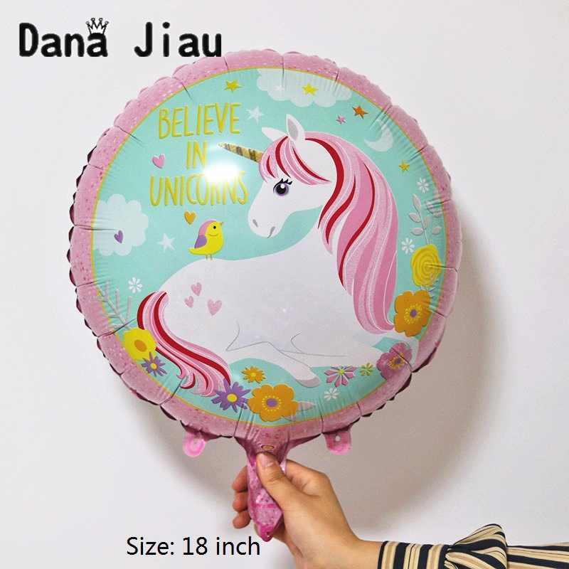 גדול Unicorn פנים רדיד אלומיניום בלון יום הולדת ילדי צעצוע אספקת חתונה תינוק מקלחת בלוני