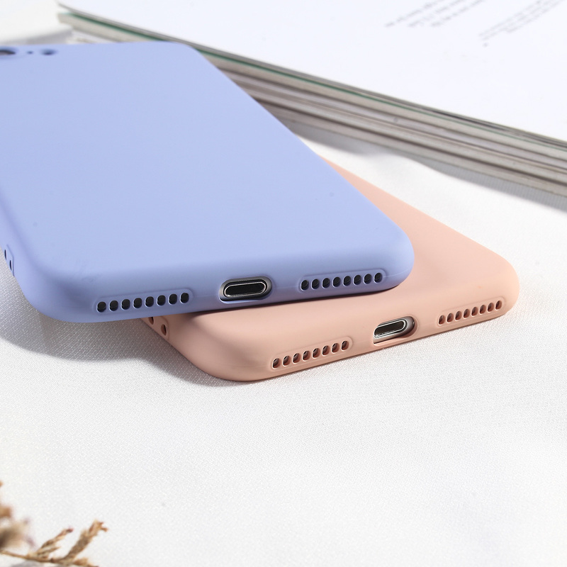 Image 2 - Candy Color Phone Cover For iPhone 8 Plus Luxury Liquid Silicone Case For iPhone 6 6s Plus 7 8 X XS XR XS Max Soft TPU Back Capa-in Fitted Cases from Cellphones & Telecommunications