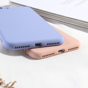 Image 2 - Funda de teléfono Color caramelo para iPhone 8 Plus funda de silicona líquida de lujo para iPhone 6 6 s Plus 7 8 X XS X XR XS Max suave TPU Capa