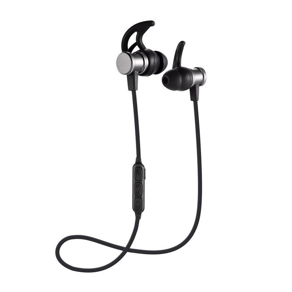 Draadloze Bluetooth In-ear Hoofdtelefoon Magneet Sport Stereo Headset Met Microfoon Sl100