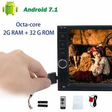 Android 7.1 Octa-core GPS Navigation on-board computer BT Head Unit 2 din Car no DVD support Steering wheel control USB/SD Wifi