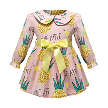 Long Sleeve Toddler Girl Dress Plaid Bow Dresses for Girls 2019 Spring Autumn Princess Girl Clothes Children Clothing 2-8 Years
