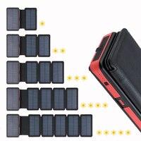 20000 mah 태양 전원 은행 접는 태양 전지 패널 휴대용 충전기 외부 배터리 은행 듀얼 usb led powerbank 휴대 전화에 대 한|보조 배터리|   -