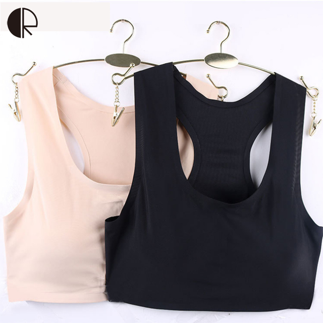 New Women's Seamless Bra Tops Sexy Bandeau Ice Silk Hallow Out Padded Bralette Crop Top Bra Wholesales WI427