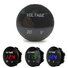 Round Waterproof Auto Boat Car Motorcycle DC Voltage LED Panel Mini Digital Volt Voltage Meter Tester Monitor Display Voltmeter стоимость