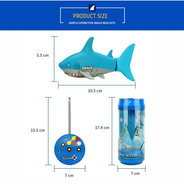 3310B 3CH RC Shark Durable Fish Boat Submarine Mini Radio Remote Control Electronic Toy Kids Birthday Gift