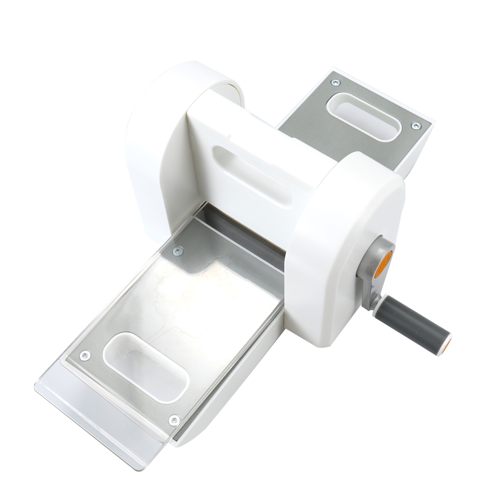 Mini Hand Crank DIY Paper Embossing Cutting Machine Scrapbooking Cutter Tool with Two Pieces of Acrylic Plates vodool diy paper embossing machine cutting scrapbooking cutter piece manual pattern die cut handmade decorative tool party gift