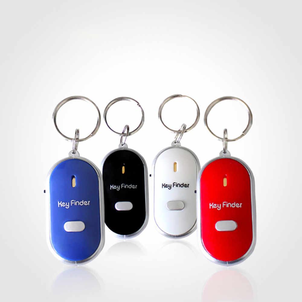 Luz LED antorcha remoto Control de sonido llave perdida Motor de coche buscador de localizador llavero Mini alarma localizador pista clave cartera teléfono