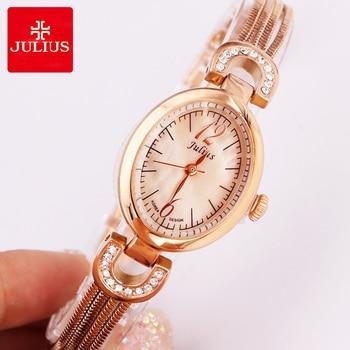 Top Julius Lady Woman Wrist Watch Fashion Hours Korea Dress Bracelet Shell Tassels School Student Girl Birthday Mother's Gift