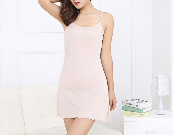 70% mulberry silk knitted camisole tank tops summer basic dress lining sexy sleepwear for women multicolor