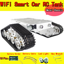 RC Tank car Chassis with bearings Crawler Intelligent Barrowload Tractor Obstacle Caterpillar Walle wall-e Patrol diy toy kit