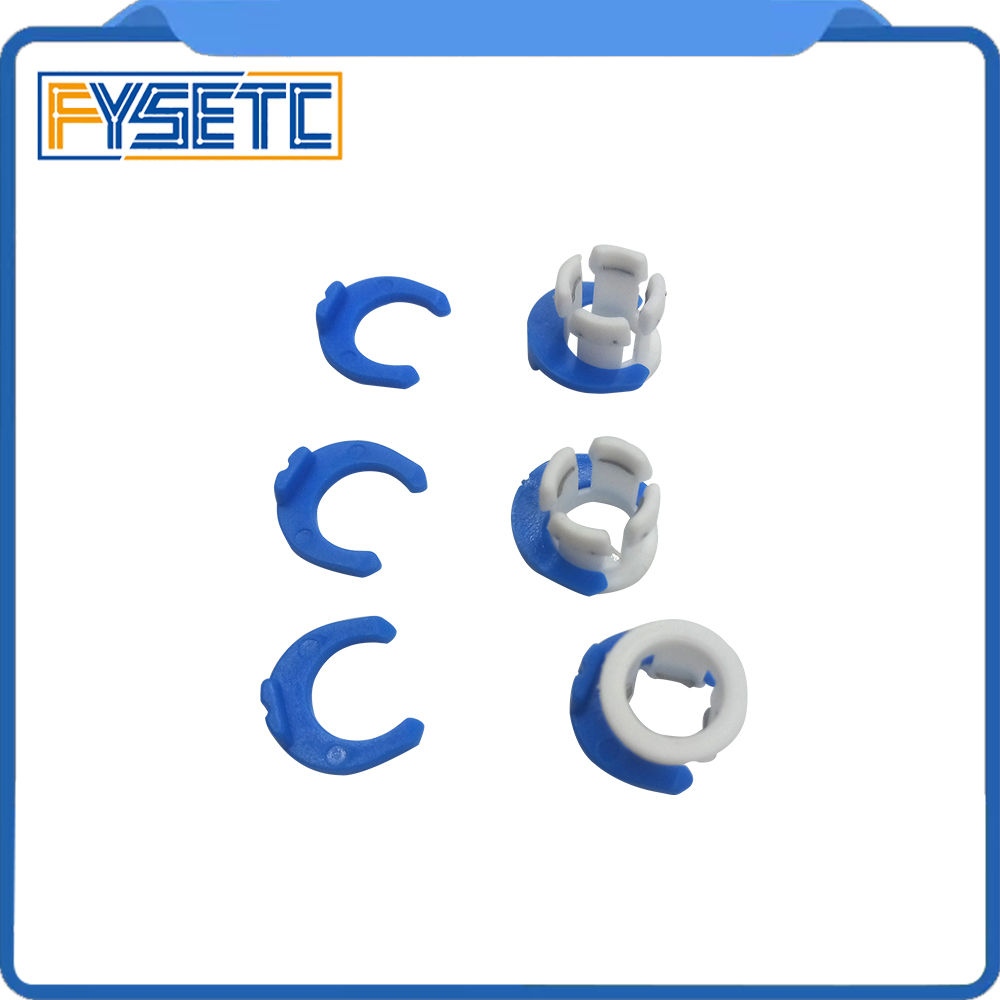 10set White Bowden Tube Clamp Blue Pipe Horse Clip Fixed