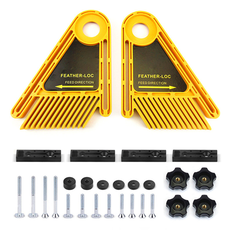 Feather Loc Board Set for Table Saws Woodworking Engraving Machine Double Featherboards Miter Gauge Slot Woodwork tool Hot Sale|Hand Tool Sets| |  - title=