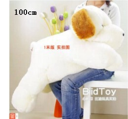 100 cm plush lovely dog sleeping dog with brown ears doll throw pillow gift w4166 lovely giant panda about 70cm plush toy t shirt dress panda doll soft throw pillow christmas birthday gift x023