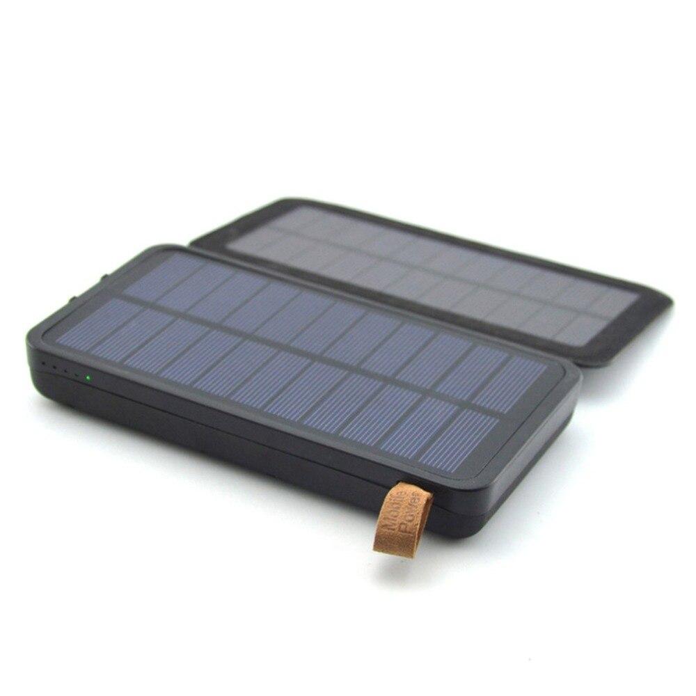 Étanche Voyage Powerbank Pour téléphone portable batterie portable solaire 16000 mah Dual USB Solaire chargeur de batterie batterie externe Pack