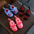 2016 рождественские зимние дети дом обуви хлопка-проложенный обувь милые собаки и кошки детские детская одежда обувь детские тепловые наряды обувь
