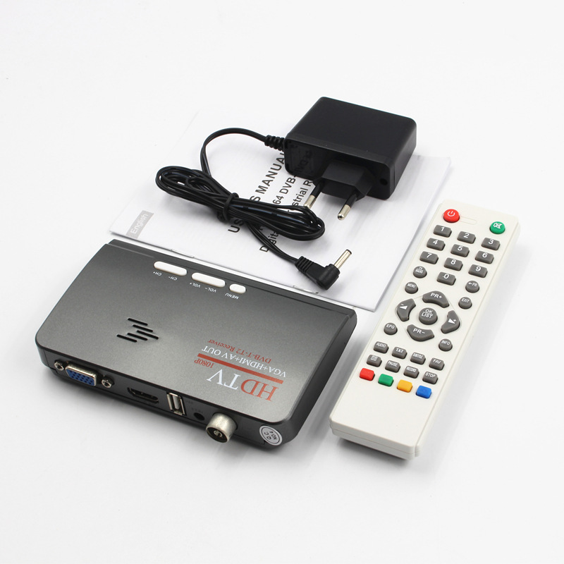 dvb t dvb t2 tv tuner receiver dvb t t2 tv box vga av cvbs 1080p hdmi digital hd satellite. Black Bedroom Furniture Sets. Home Design Ideas