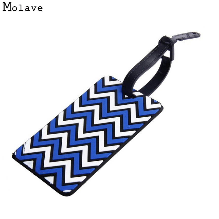 Naivety 1pc New Striped Pattern Suitcase Luggage Tags Portable ID Address Holder Silicone Identifier Label S61028 drop shipping кошелек quiksilver theeverydaily black thunderbolts