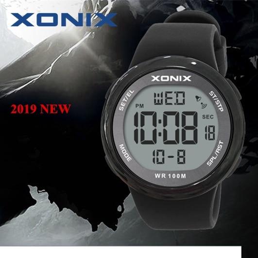 Moda masculina esportes relógios à prova dwaterproof água 100m diversão ao ar livre hardlex espelho sumergível relógio digital natação relógio de pulso reloj hombre