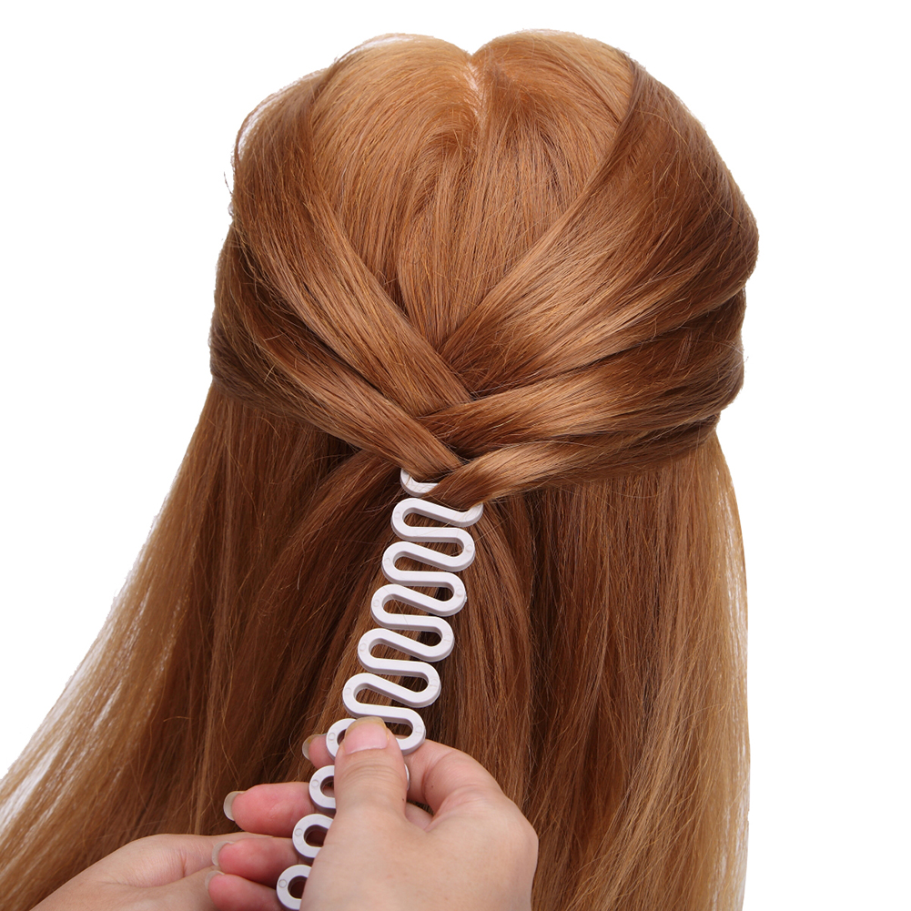 1PC French Hair Styling Clip Stick Bun Maker Braid Tool Hair Accessories Twist Plait Hair Braiding Tool For Women Girls(White)
