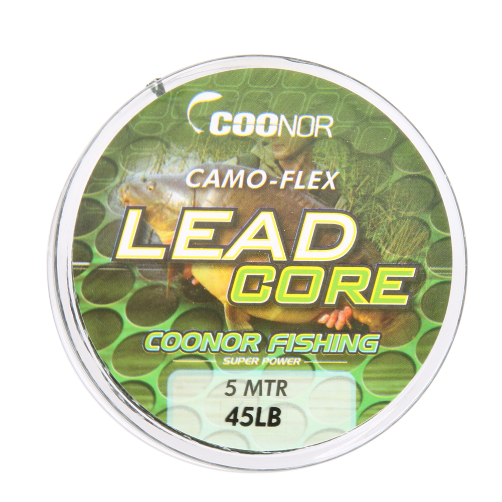 High strength 45lb 5m leadcore braided camouflage carp for Lead core fishing line