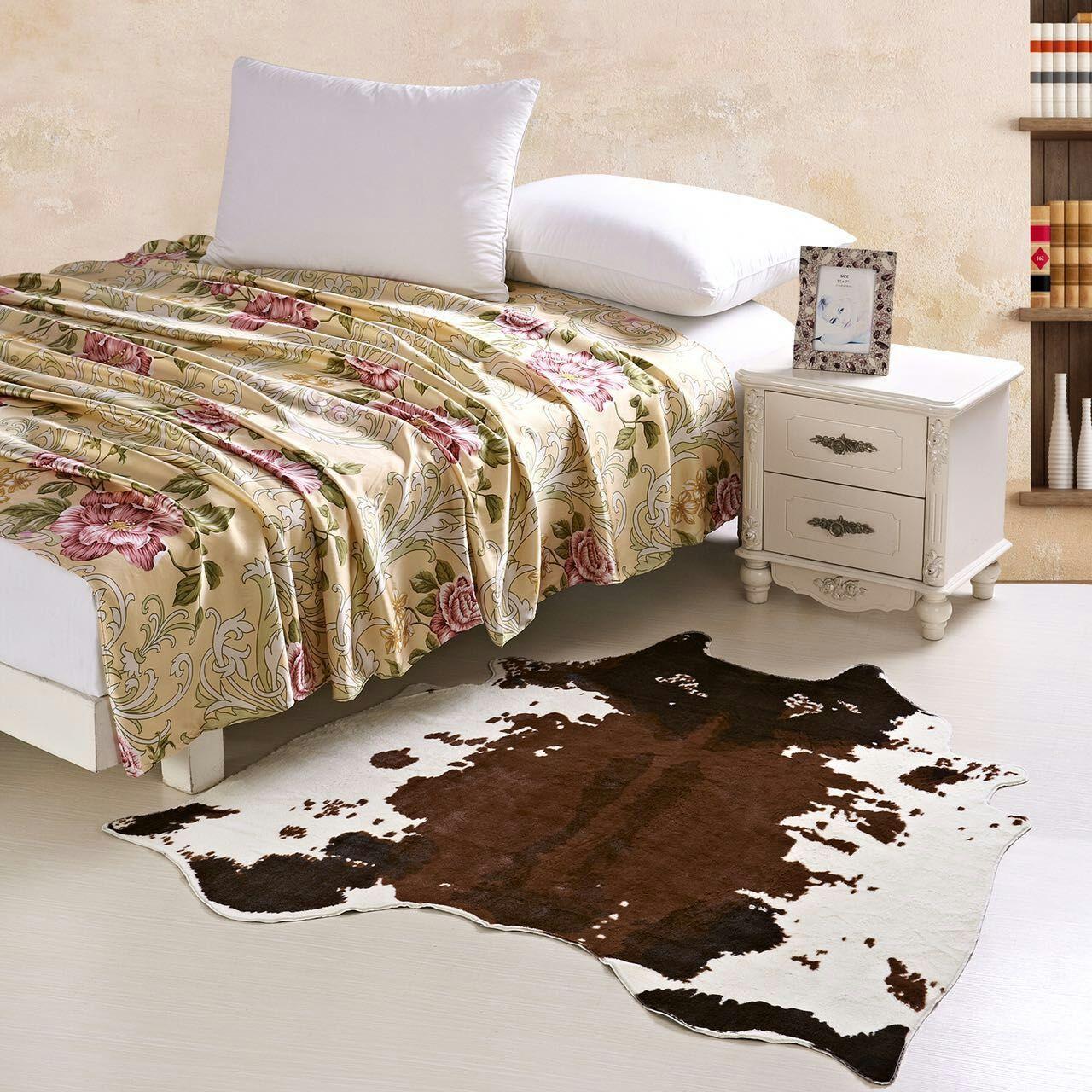 Cowboy Style Imitation Cow Zebra Skin Mats Creative Home Decoration Carpet Animal Prints Rugs Living