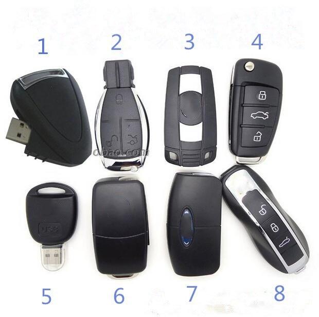 Sell Like Hot Cakes Eight Styles 128G Car Key Usb Flash Drive Pen Drive 64G 32G 16G Usb Flash Drive Memory Stick Pen Drive Usb