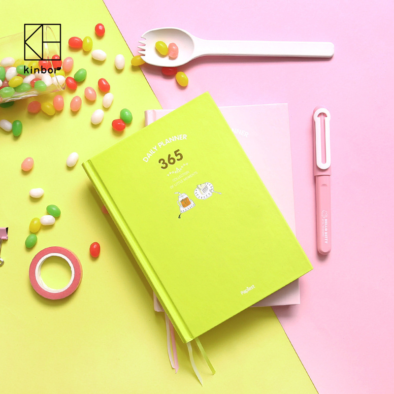 Cute 365 Days Planner Notebook School Stationery Store Agenda Diary Note Book Travel Journal Kawaii Office Accessory Week Plan домкрат airline aj b 06 6т
