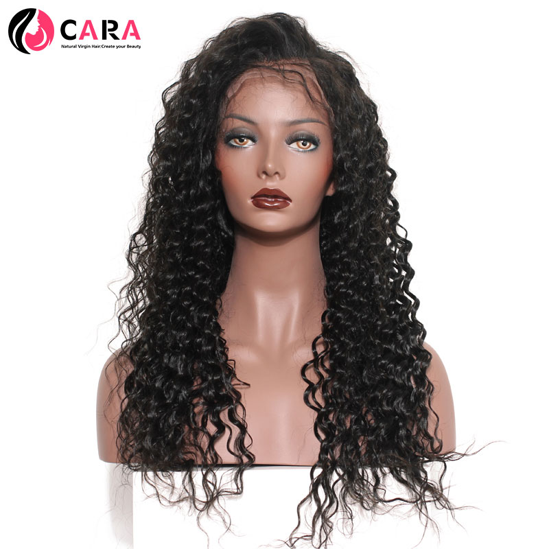 CARA Deep Wave 360 Lace Frontal Wig Natural Color Pre Plucked Hairline With Baby font b