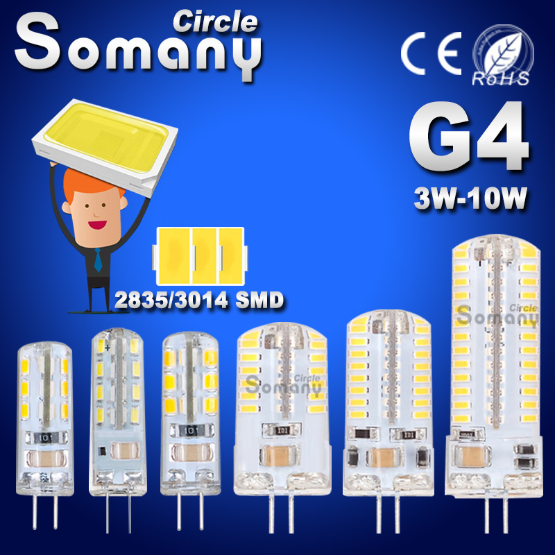 G4 LED Bulb SMD 2835 3014 G4 LED Lamp 3W 4W 5W 6W 7W 10W LED Light AC DC 12V 220V 360 Beam Angle Replace Chandelier Halogen Lamp 5pcs lot 2017 g4 ac dc 12v led bulb lamp smd 6w dimmable replace halogen lamp light 360 beam angle luz lampada led