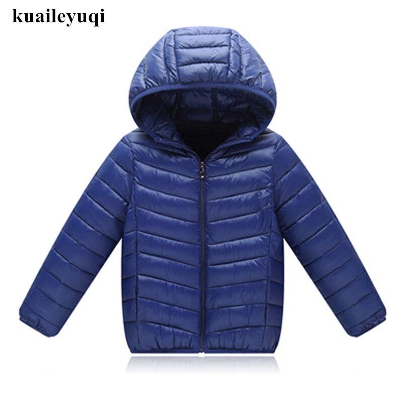 Детское пальто 2018 осень куртка для мальчиков детское пуховое хлопковое Костюмы верхняя одежда с капюшоном для маленьких мальчиков одежда к... ...