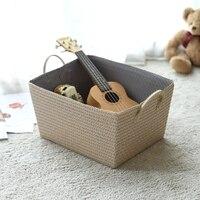 Dirty clothes storage basket straw clothes debris toy storage basket weaving laundry basket